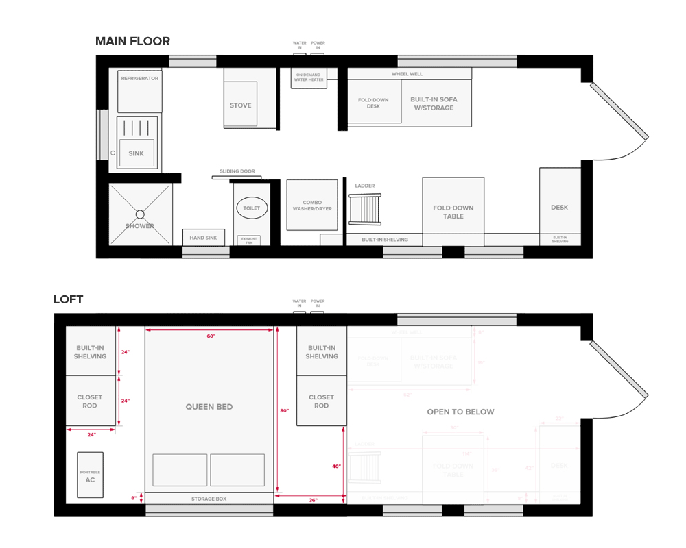 Our Tiny House Floor Plans (Construction PDF + SketchUp