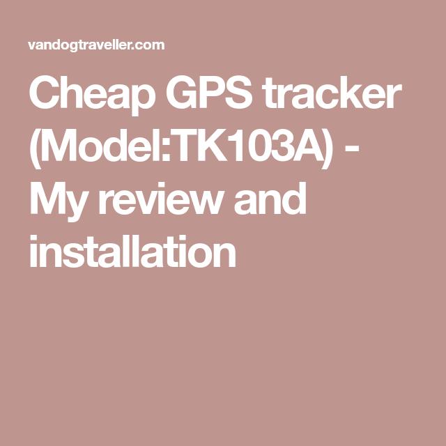 Cheap Gps Tracker  Model Tk103a