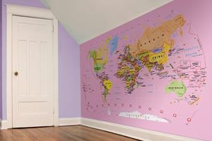 Denim Map Of The World Pinterest Room And Bedrooms - Map of the world wallpaper for kids