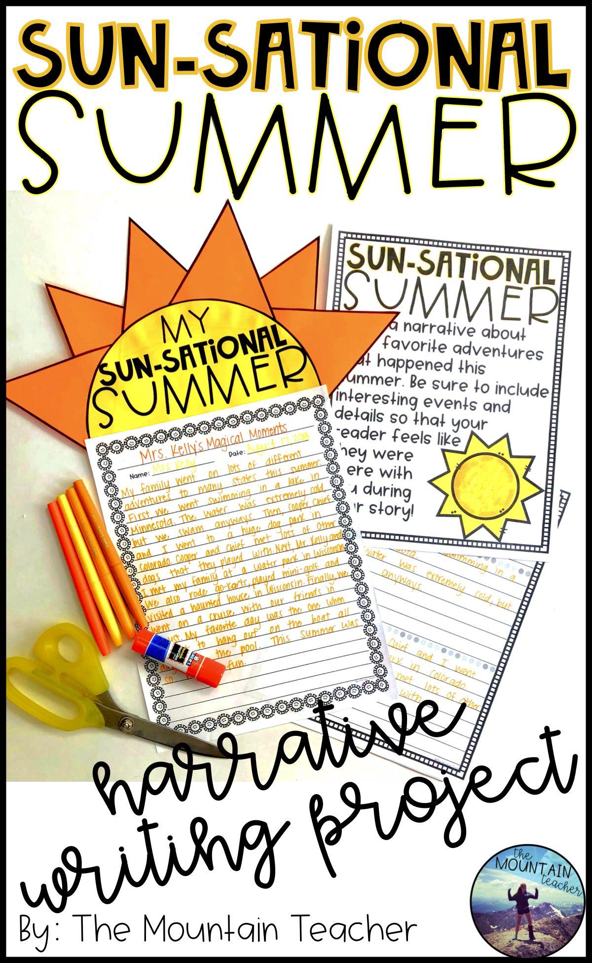 Sun Sational Summer Narrative Writing Project