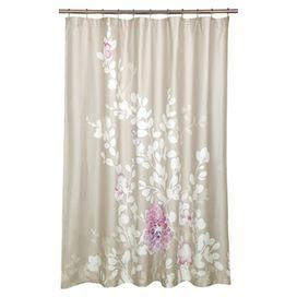 Cotton Shower Curtain With A Floral Motif Product Shower
