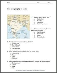 Image Result For Worksheet On Physical Features Of India Phy1