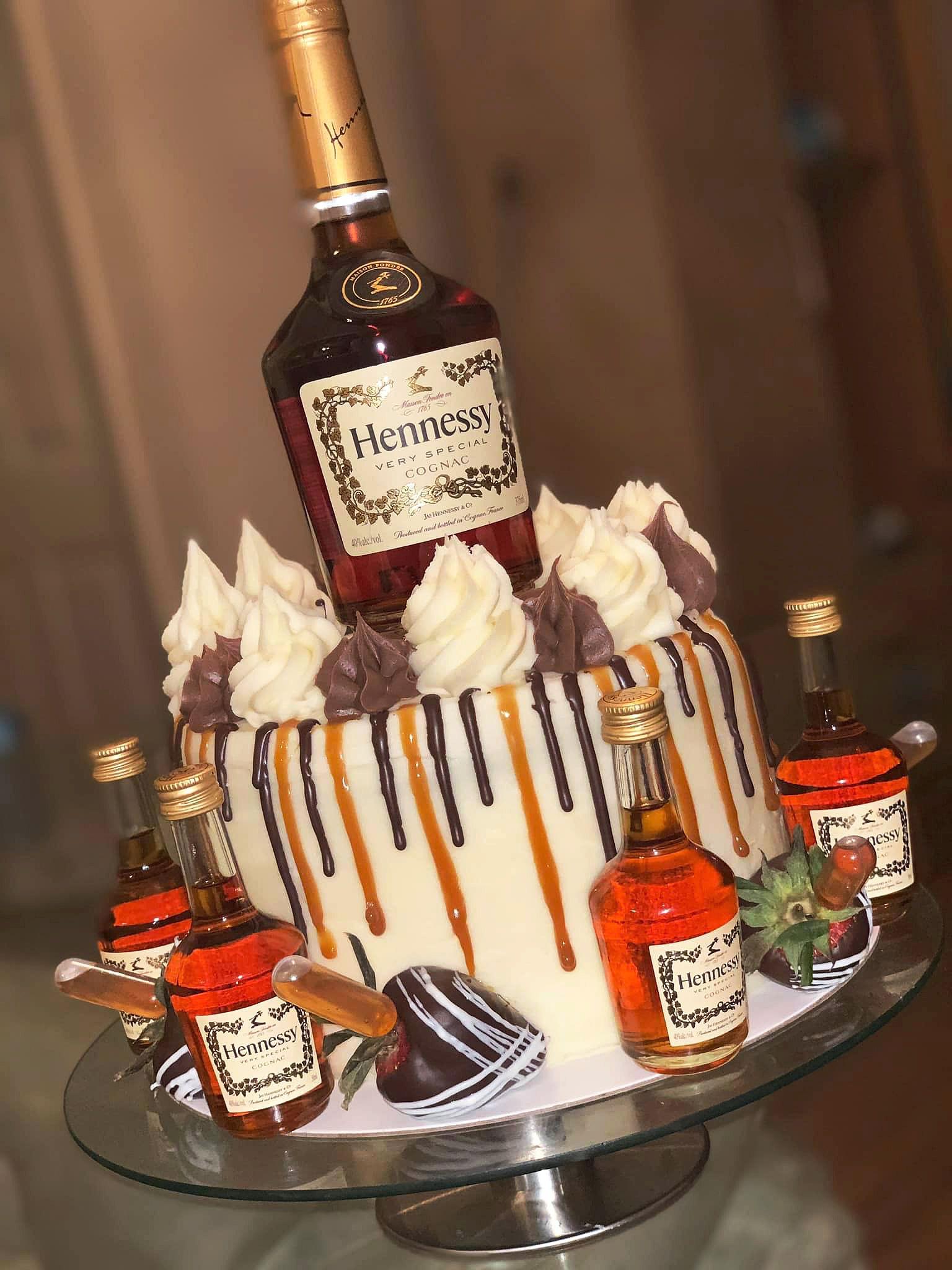 Amazing hennessy cake alcohol birthday cake hennessy