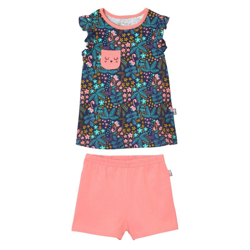 bfa526b669298 Pyjama fille Miss Blabla Petit Béguin (tropical)