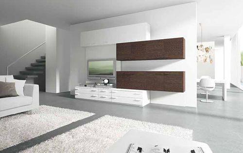Marka Mobili ~ Moderne wohnwand aus lackiertem holz composition marka