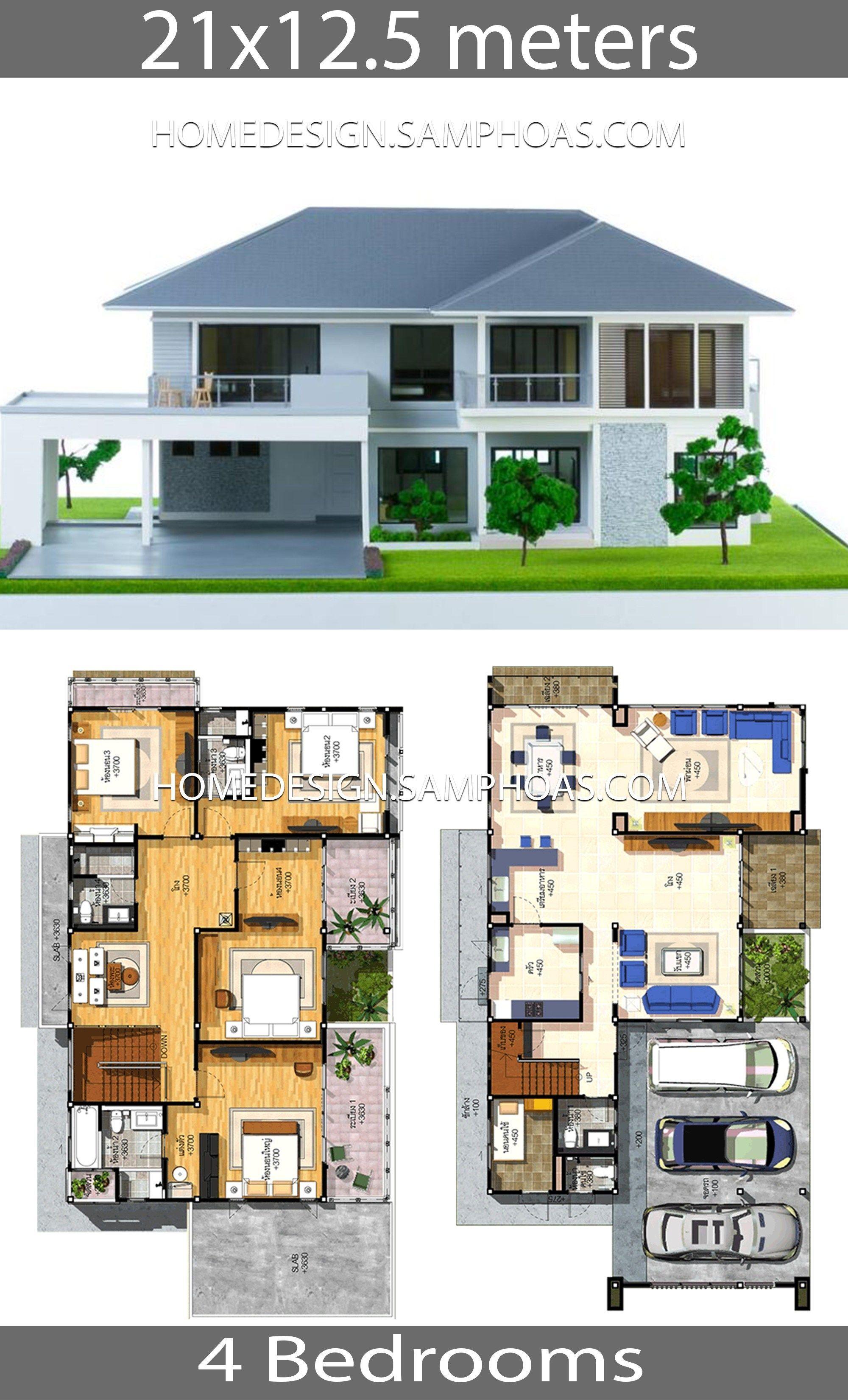House Plans Idea 21x12 5 With 4 Bedrooms Home Ideas Ajay Dookhy House Plans Idea 21 12 5 With 4 In 2020 Fantasy House Dream House Plans House Architecture Design