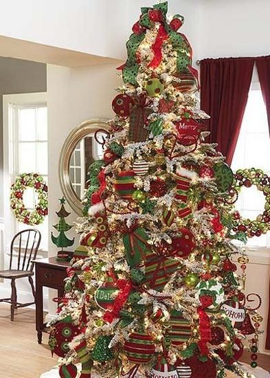 Christmas tree/large ornaments...plus other tree ideas ...