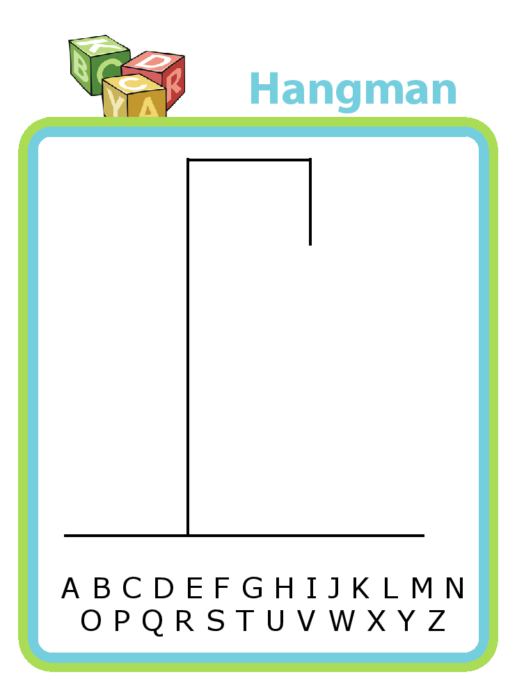 hangman templates plus lots of other printable activities for kids