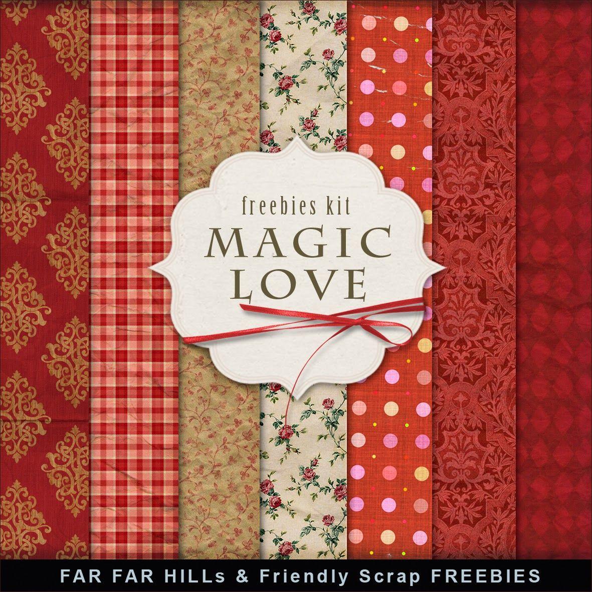 New Freebies Kit of Background - Magic Love