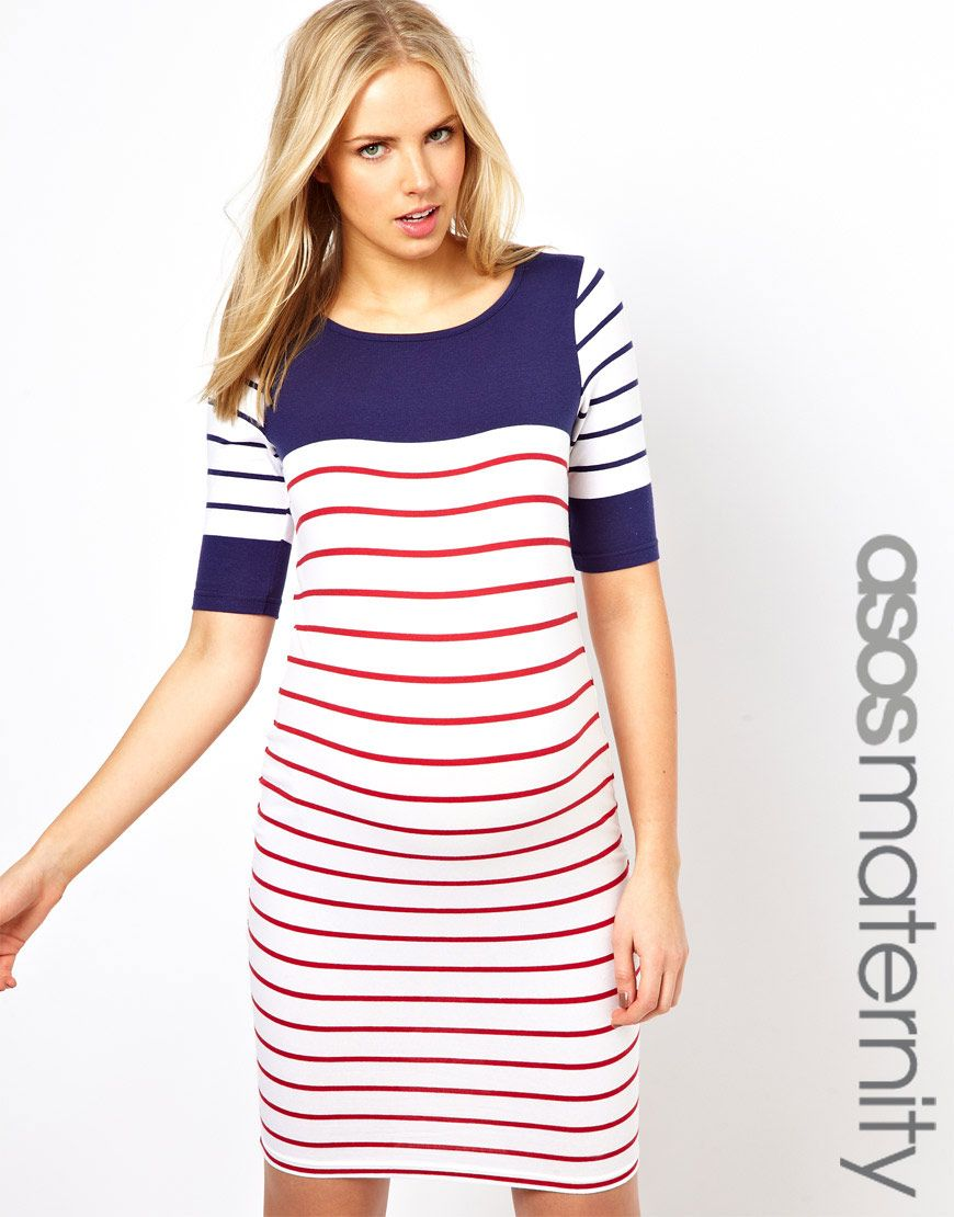 Pregnant style maternity dress with color block stripe style asos maternity exclusive body conscious dress with color block stripe ombrellifo Images