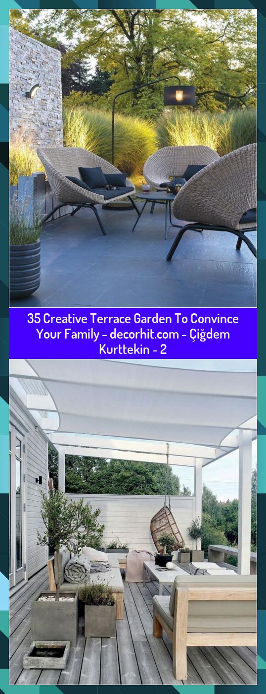 35 Creative Terrace Garden To Convince Your Family -  - Çiğdem Kurttekin - 2