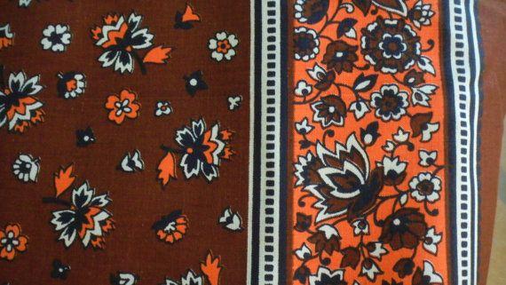 Vintage 1970s Fabric-Qulting-Home Decor-7.7 yards. $30.00, via Etsy.