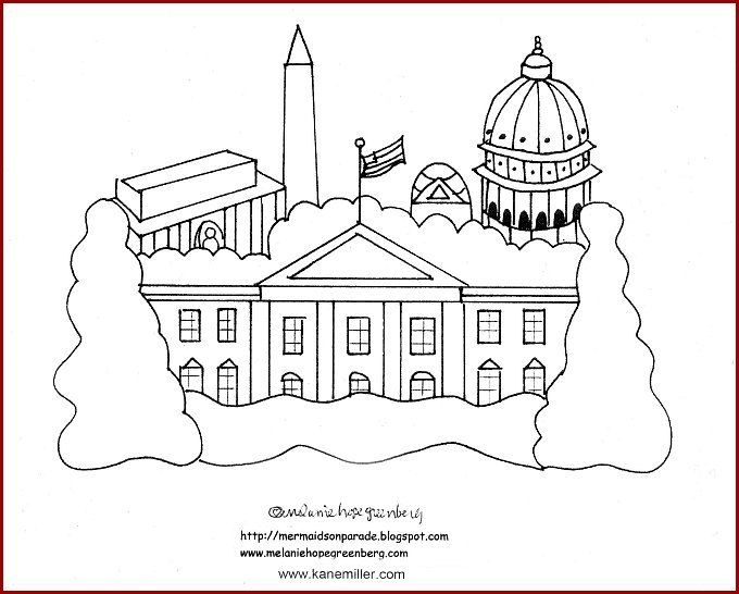 White House Coloring Sheet White House Coloring Page White House