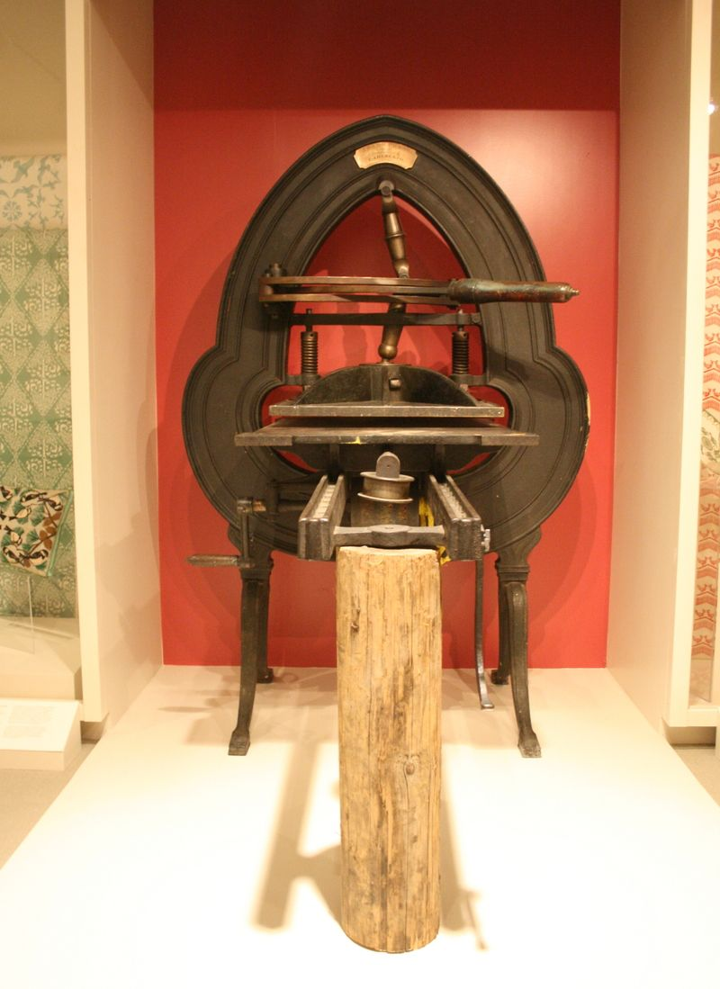 An acorn press, on display at the Cape Ann museum. (Photo: Lilia Kilburn)