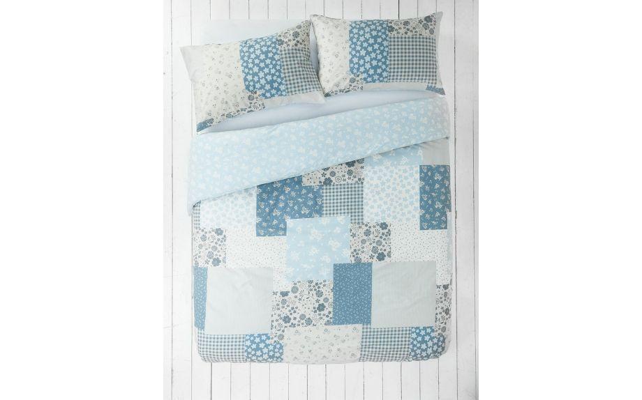 Buy Home Blue Patchwork Bedding Set Kingsize At Argos Co Uk Your Online Shop For Duvet Cover Sets Bedding Home Duvet Cover Sets Duvet Covers Bedding Set