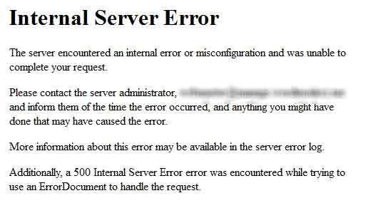 Comment Corriger Internal Server Error De Wordpress