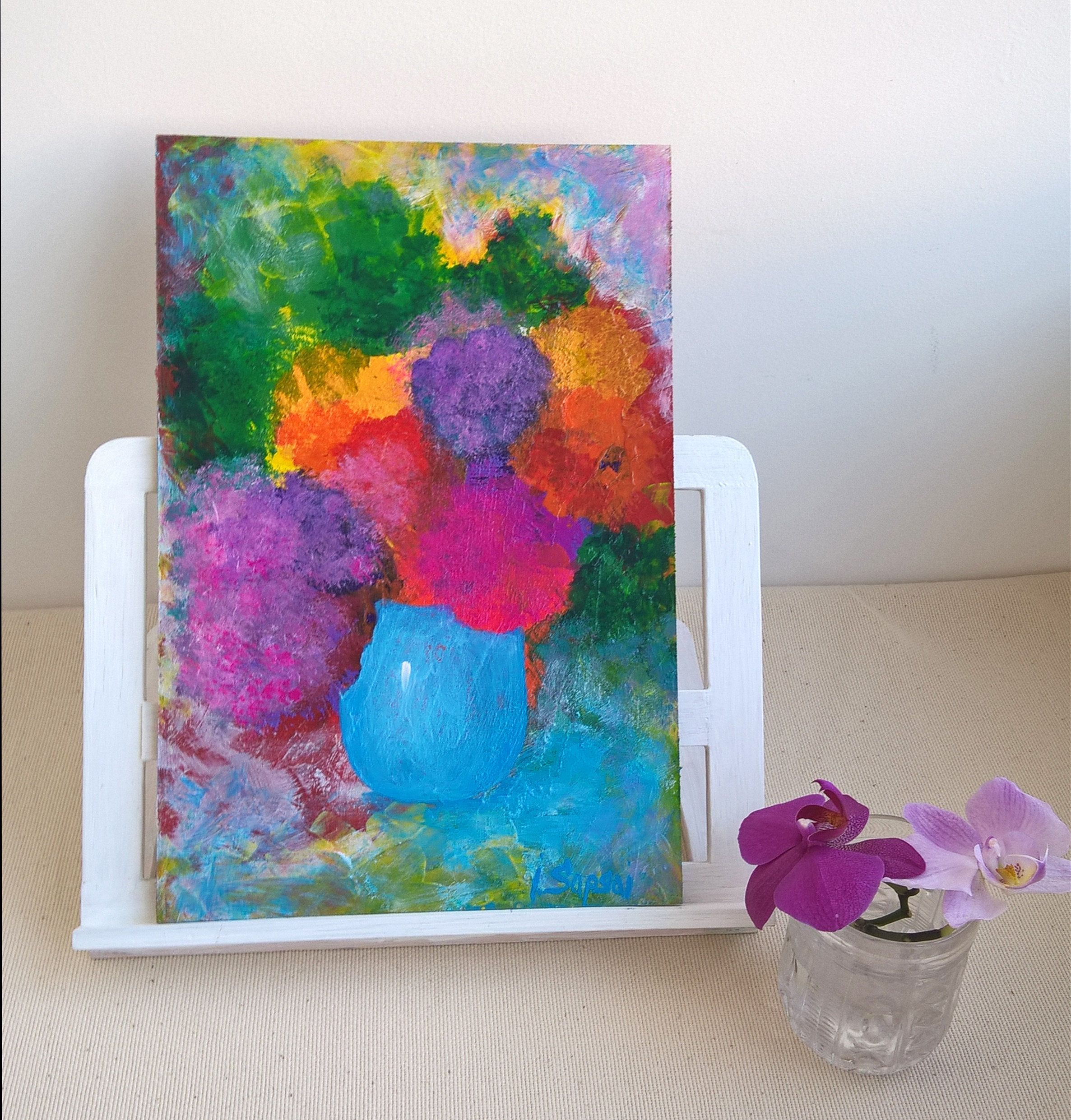 Beautiful Flowers Images Flower Painting Affordable Modern Etsy Abstract Floral Artwork Flower Painting Abstract Floral Art