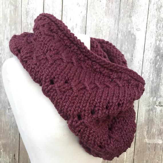 Twirl Cowl Chunky Knit Scarf Pattern | Scarf knitting ...