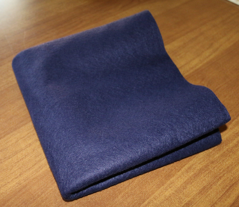 Wool Felt By The Yard Navy Blue Wool Felt One And A Half Yards