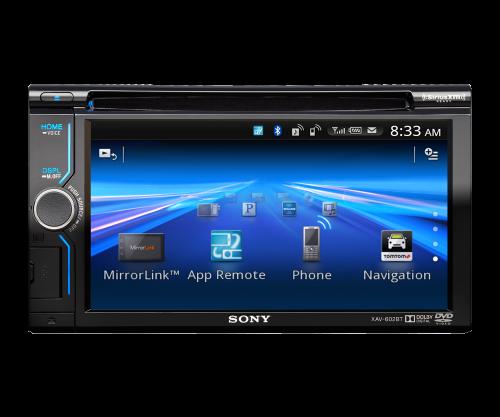 "Smartphone connected 6.1"" AV Receiver App remote, Car"