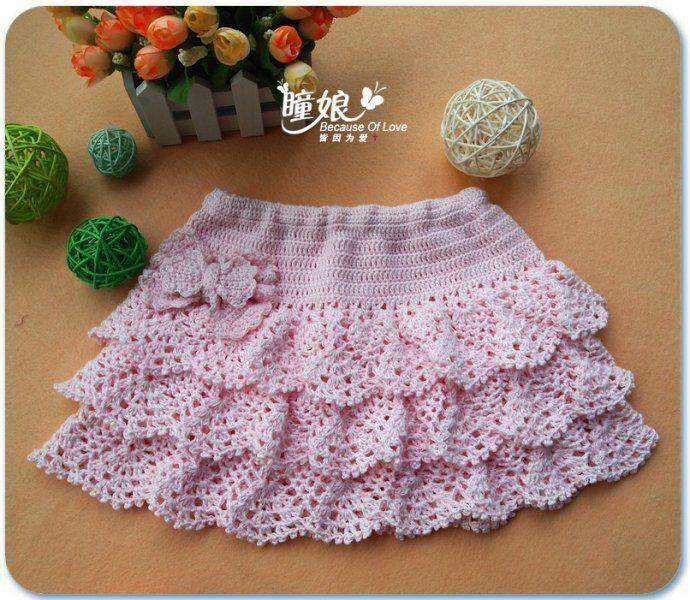 Crochet Skirt For Girls From Make Handmade Crochet And Knitting
