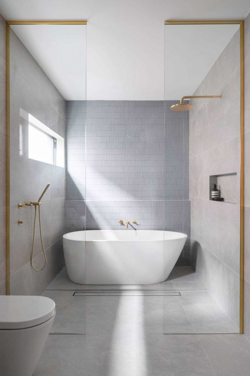 Rethinking The Shower Niche Why I Think The Ledge Is Next Skandinavisches Badezimmer Badezimmer Und Renovierung