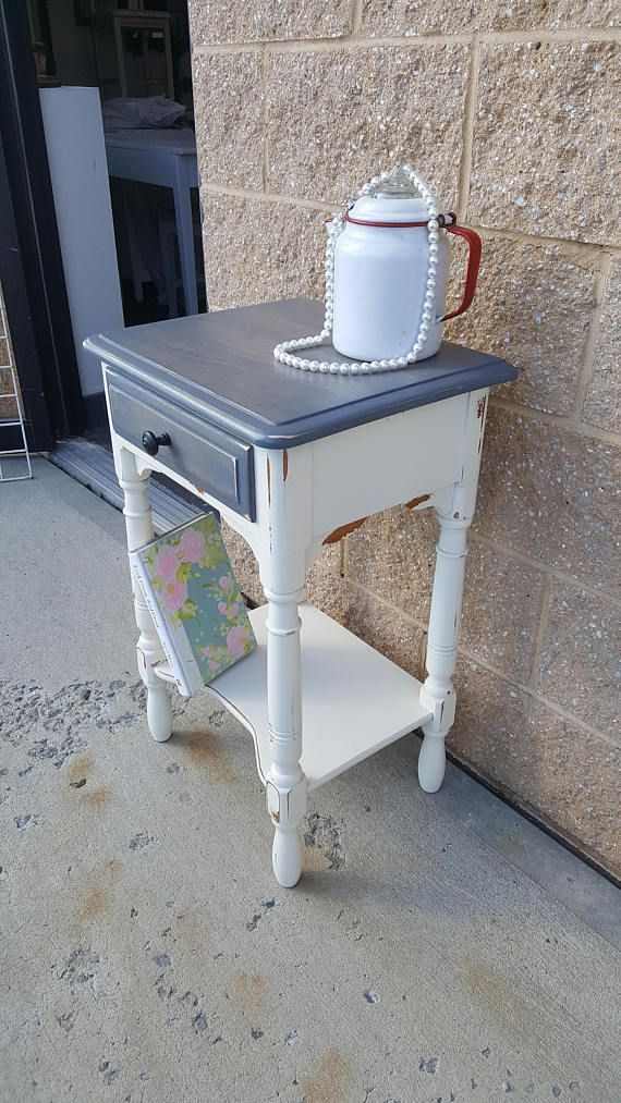Charming Vintage Farmhouse Shabby Rustic Chic Table, PICK UP ONLY Country Bedroom, Night  Stand, Bedside Table, French Country, Cottage