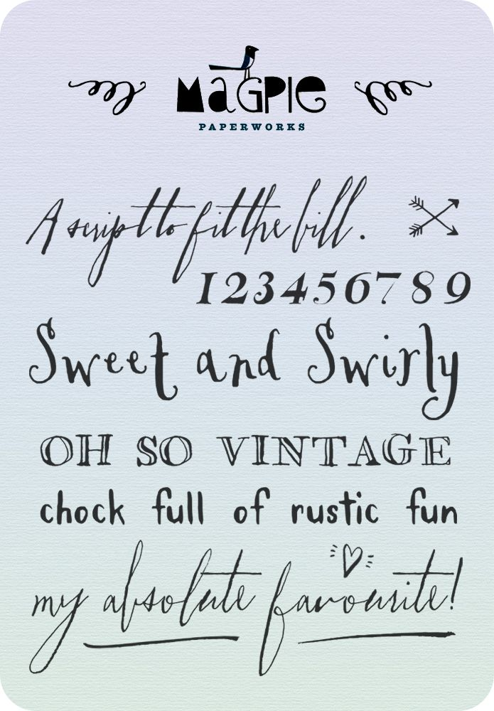 Font Love Magpie Paper Works