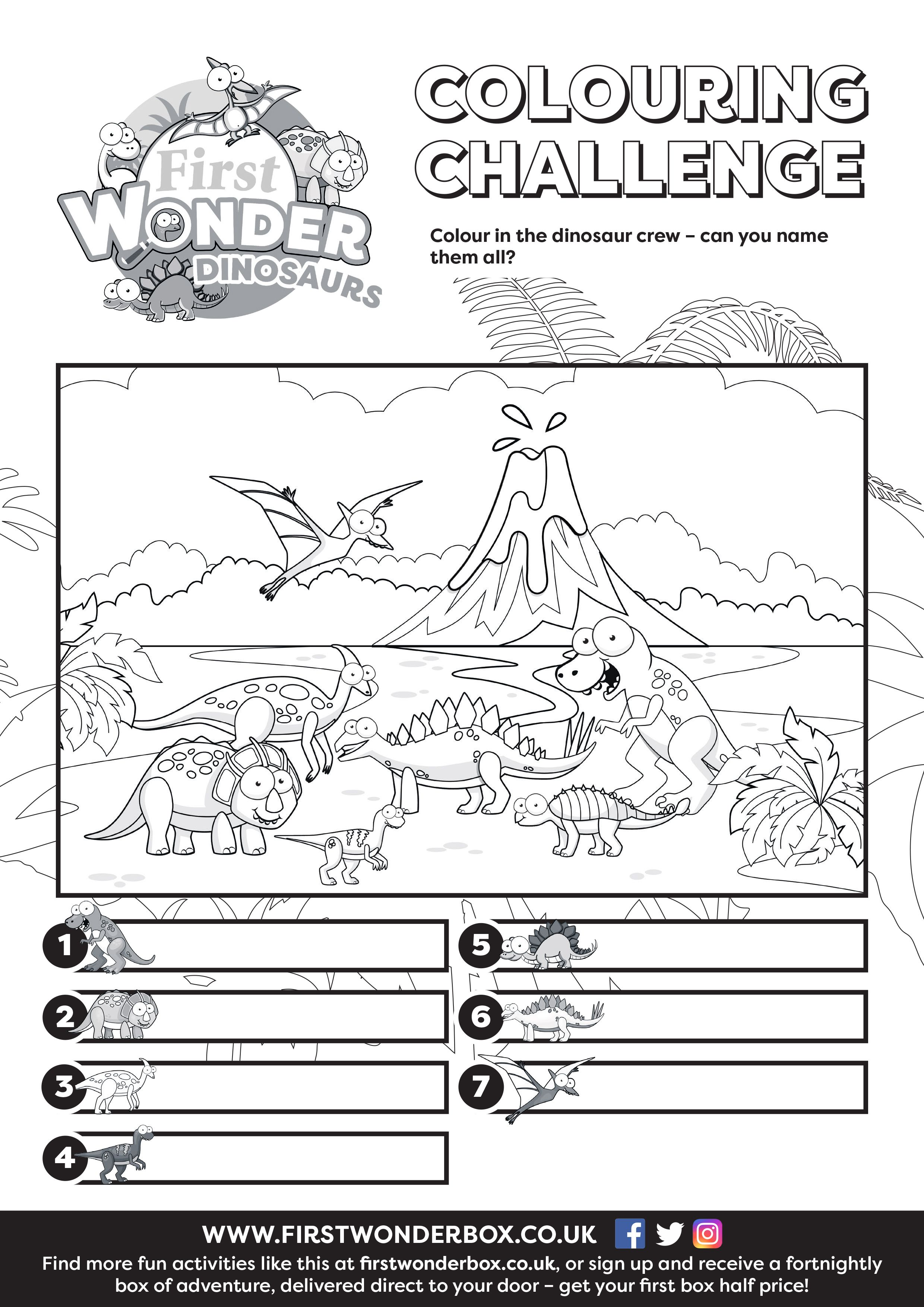 Our Free Printable Dinosaur Colouring Activity Sheet Is