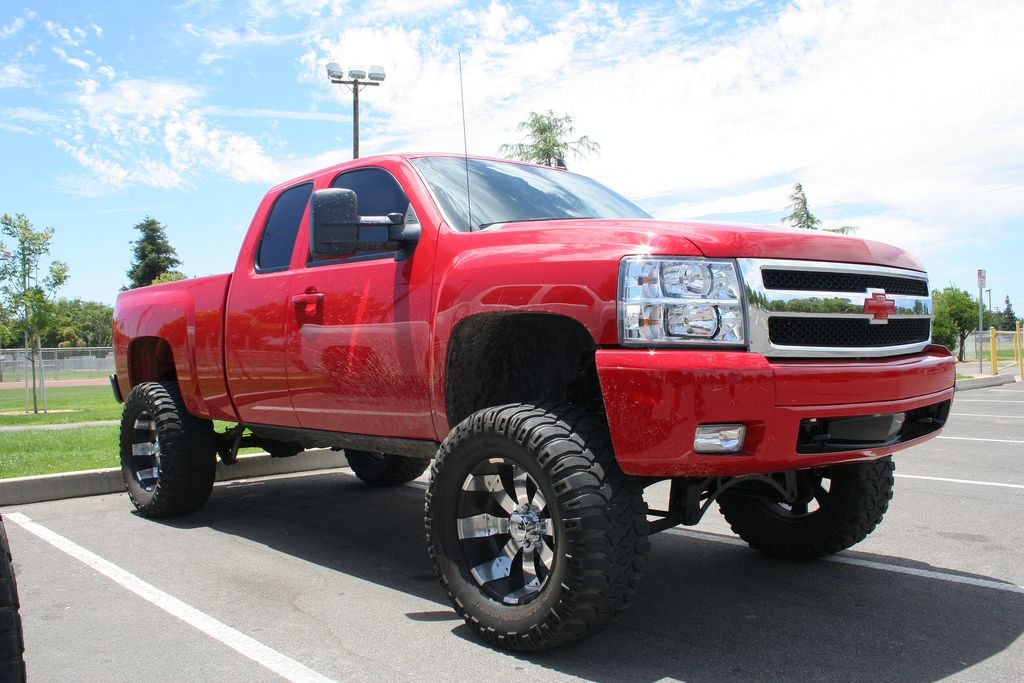 Chevy Body Wallpaper Square Red