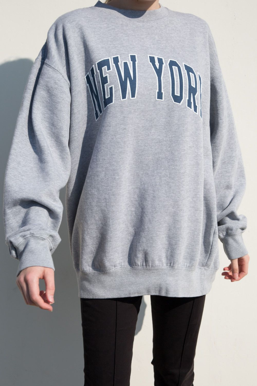 Erica New York Sweatshirt Pullovers Sweaters Clothing New York Sweatshirt Sweatshirts Baggy Sweatshirts [ 1500 x 1000 Pixel ]