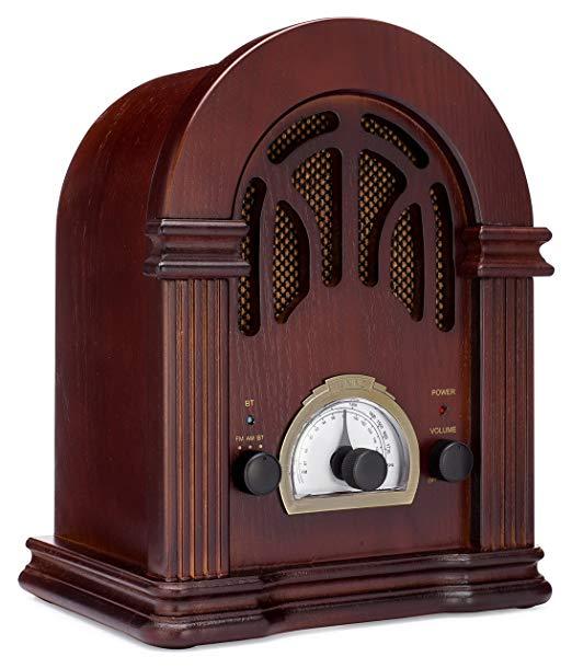 Amazon Com Clearclick Retro Radio Am Fm Con Bluetooth Altavoz Estilo Clasico Retro De Madera Home Audio Theater In 2020 Retro Radios Vintage Radio Old Radios