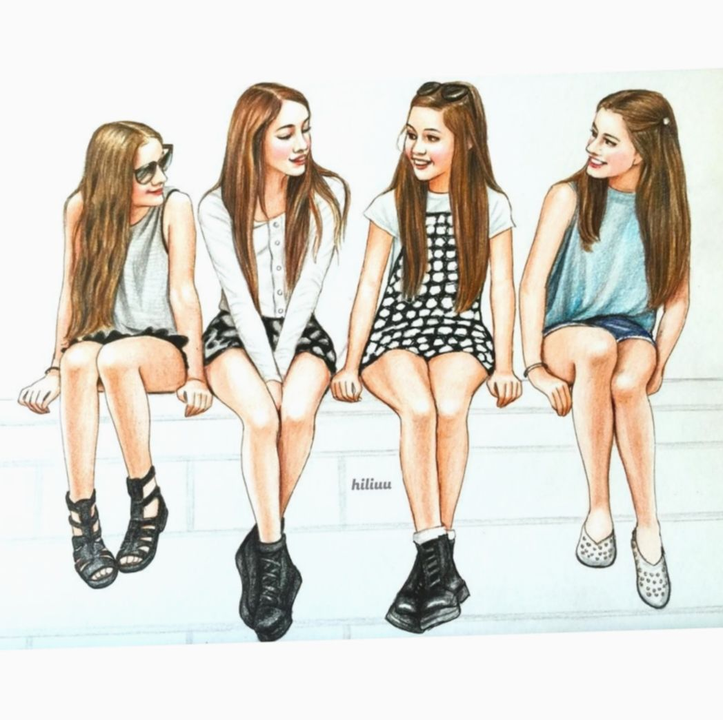 6 Cute Quotes For Girls Friendship Best Friend Drawings Drawings Of Friends Bff Drawings