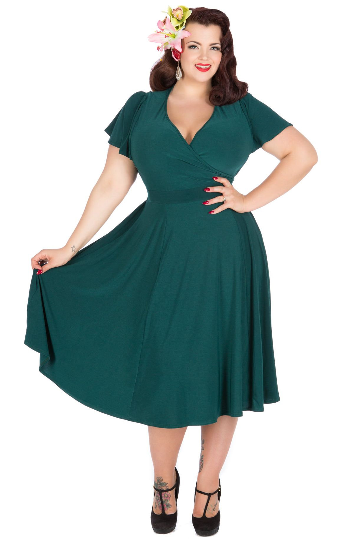 teal lyra dress | vintage style dresses, plus size vintage and