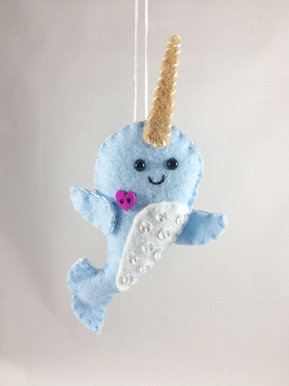 Felt Narwhal Christmas Ornament by BeckyLynnCreations on Etsy | Ava ...