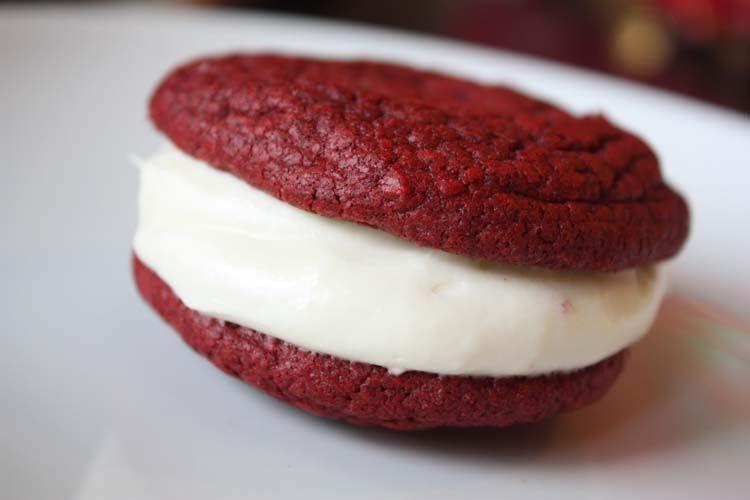 Red Velvet Whoopie Pie Recipe Box Cake Mix