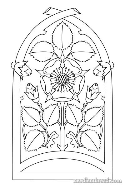 Rose Window Pattern For Hand Embroidery Pinterest Hand