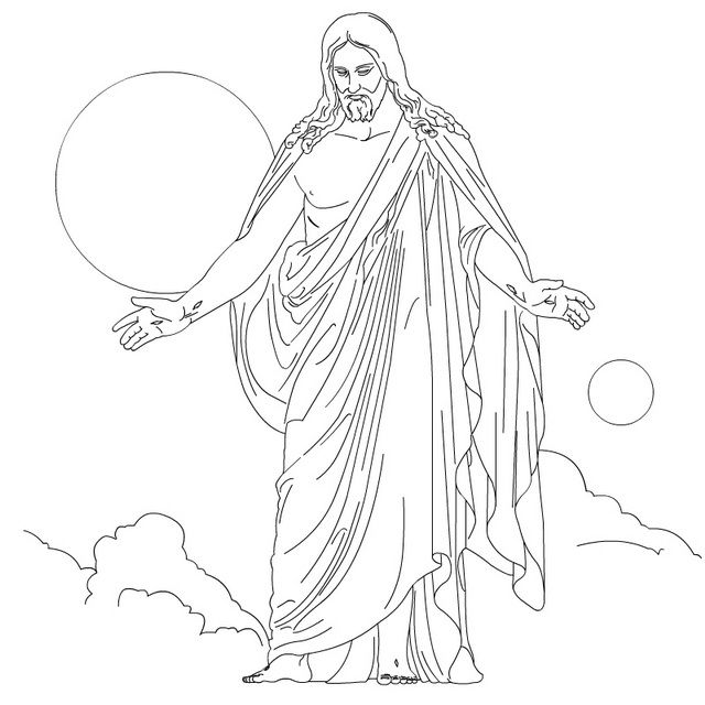 Ascension of Jesus Christ Coloring Pages Lds primary, Christmas - copy christian nursery coloring pages