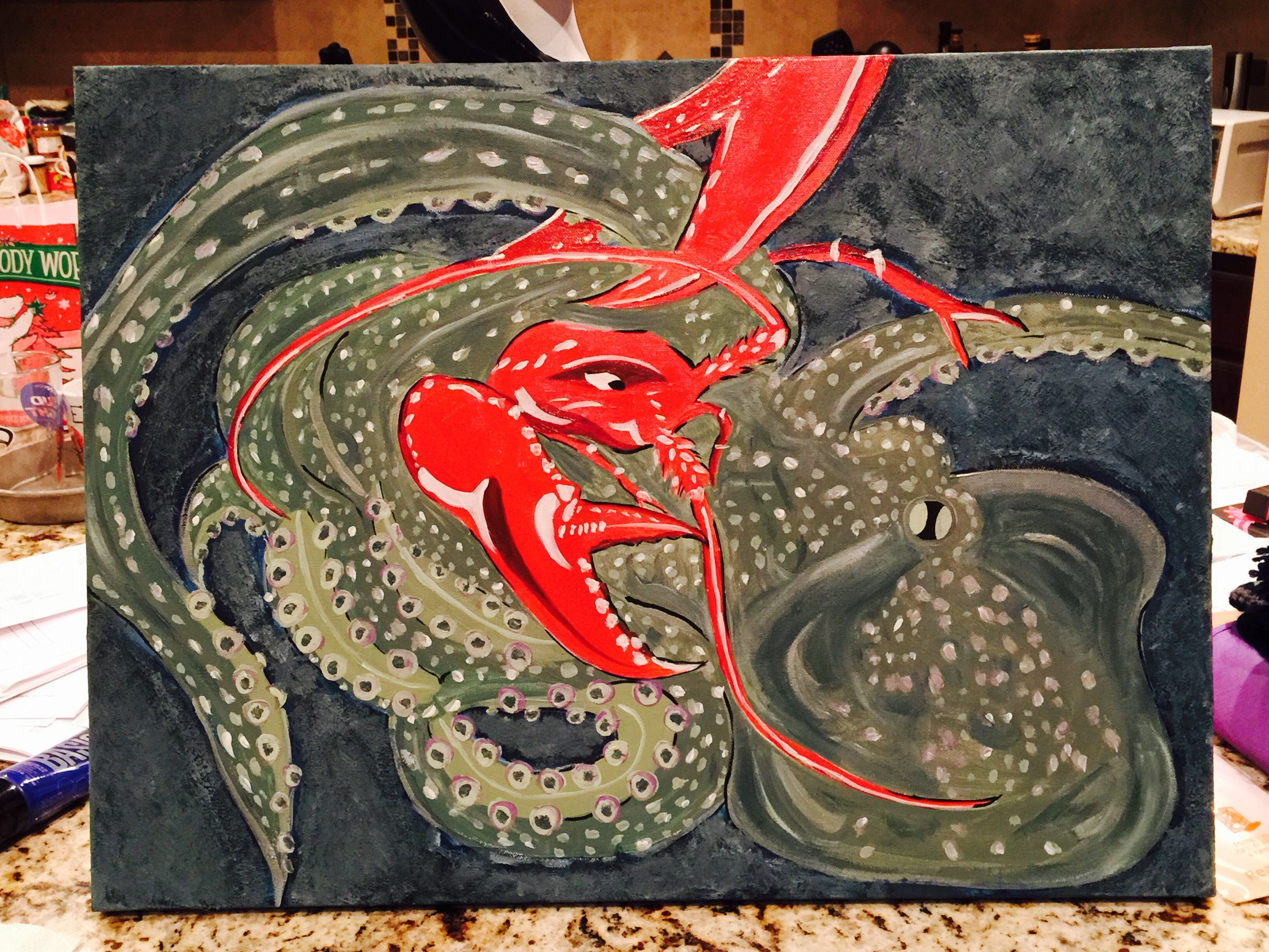 Octopus vs. Lobster Who's winning anyways?-Madel R.