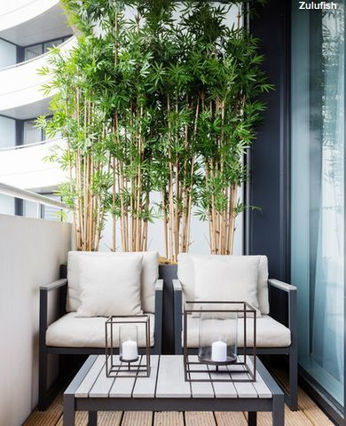 kleiner Balkon, Balkon Sichtschutz, Sitzmöbel Balkon, Balkon Bepflanzung, Ideen… – Handwerk Ideen
