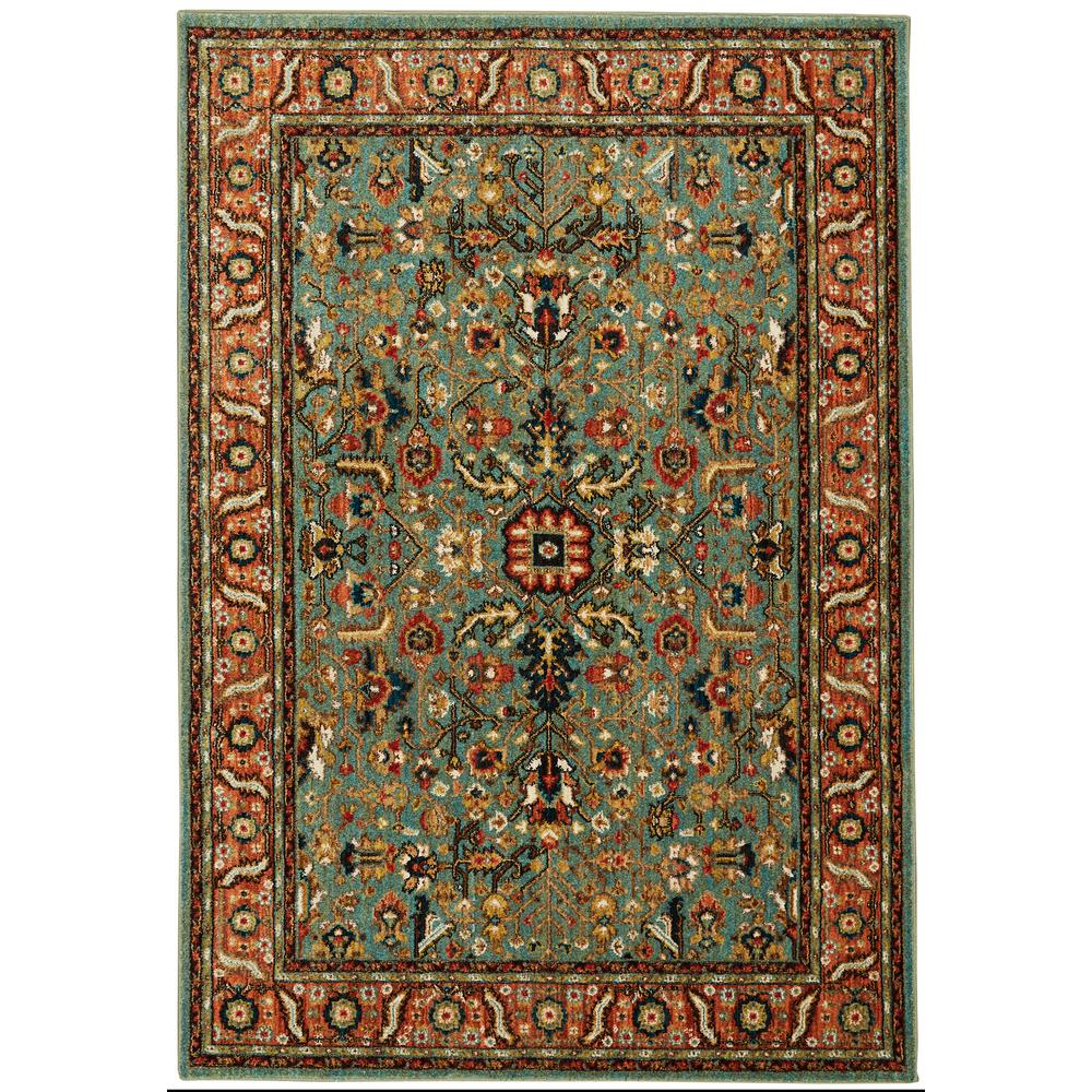 Home Decorators Collection Mariah Aquamarine 8 Ft X 10 Ft Area Rug 635619 The Home Depot In 2020 Area Rugs Floral Area Rugs Colorful Rugs
