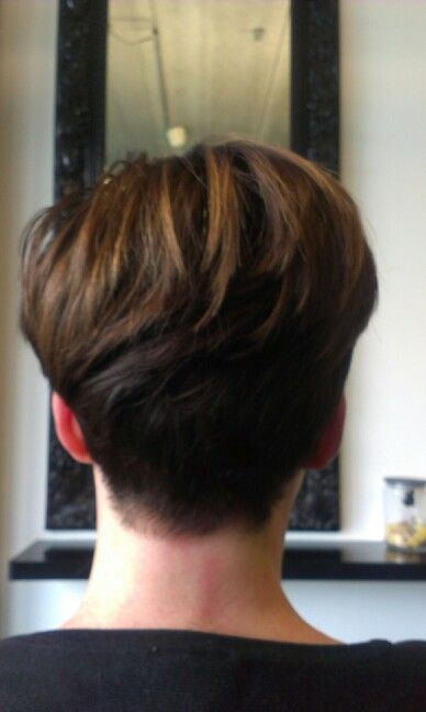 Short Hair Backside Hair Cut Short Hair Styles Hair Beard