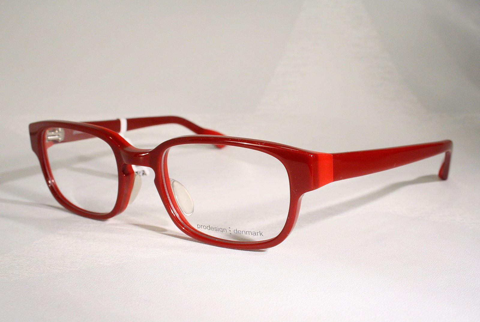 35a5a971c081 New PRODESIGN DENMARK 4648 Women s Red Horn-Rimmed Designer Eyeglass Frames