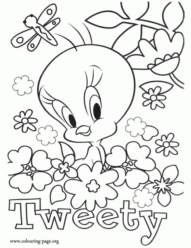 Tweety Bird Online Coloring Pages Printable Letscolorit Com Paginas Para Colorear De Flores Paginas Para Colorear Disney Dibujos Para Colorear Adultos