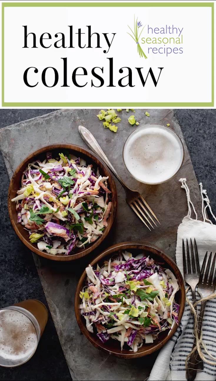Healthy Coleslaw -   19 healthy recipes Summer greek yogurt ideas