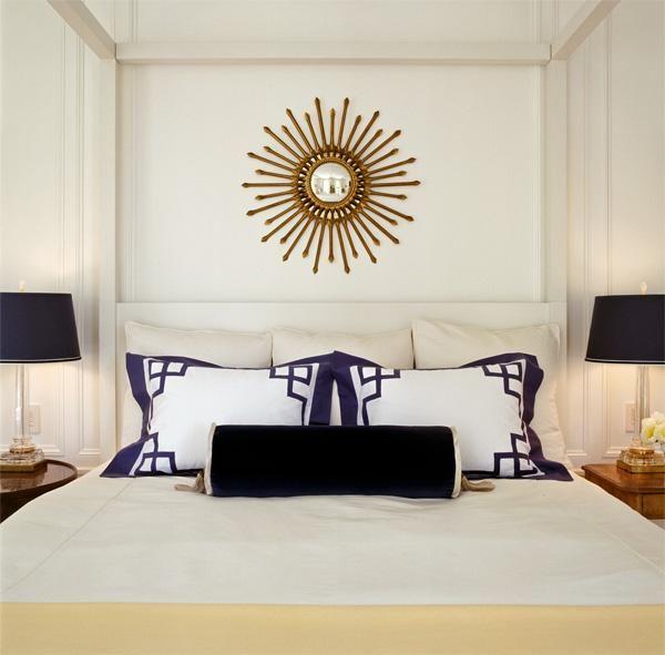 Tish Key Interior Design Sophisticated Ivory Navy Blue Master