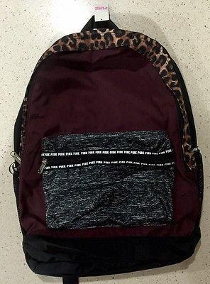 VICTORIA'S SECRET Backpack Bookbag Campus Bag . Maroon Waterproof ...