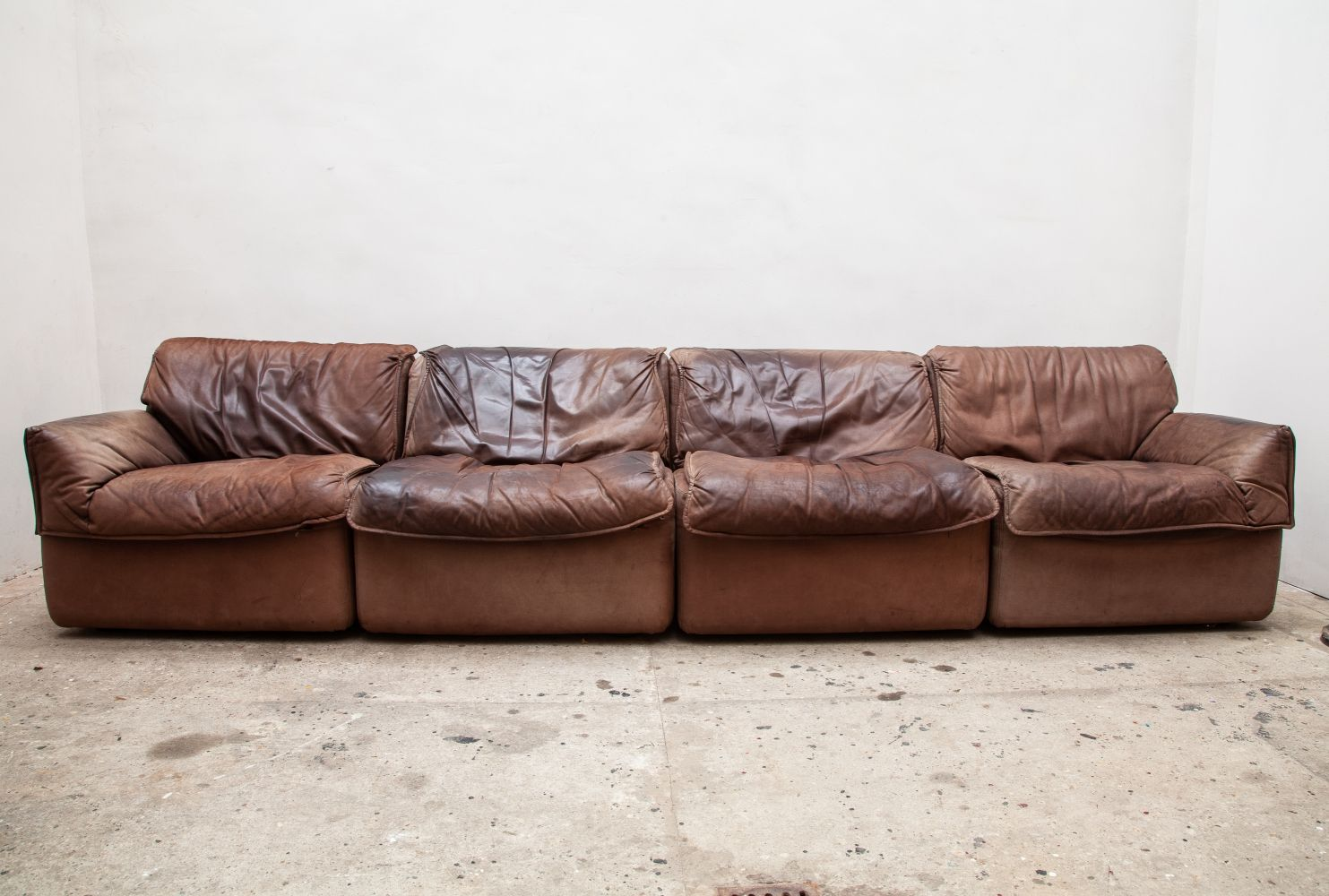 For Sale Brown Leather Modular Sectional Sofa By Cor Germany 1970s Modular Sectional Sofa Leather Modular Sofa Modular Sectional