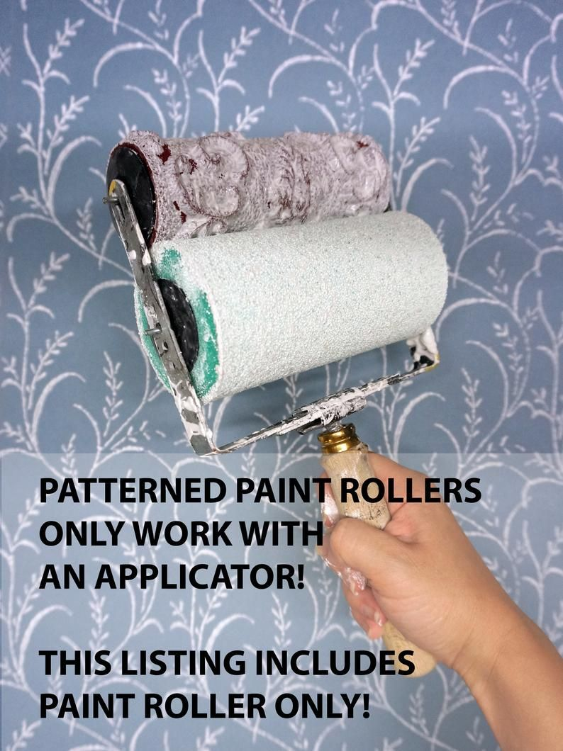 Patterned Paint Roller No 29 From Paint Courage Etsy Patterned Paint Rollers Paint Roller Painting Patterns
