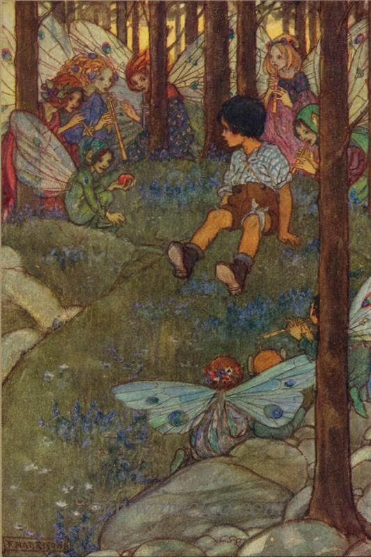 PreRaphaelite Florence Harrison Fairies Elfin Song Counted Cross Stitch Pattern